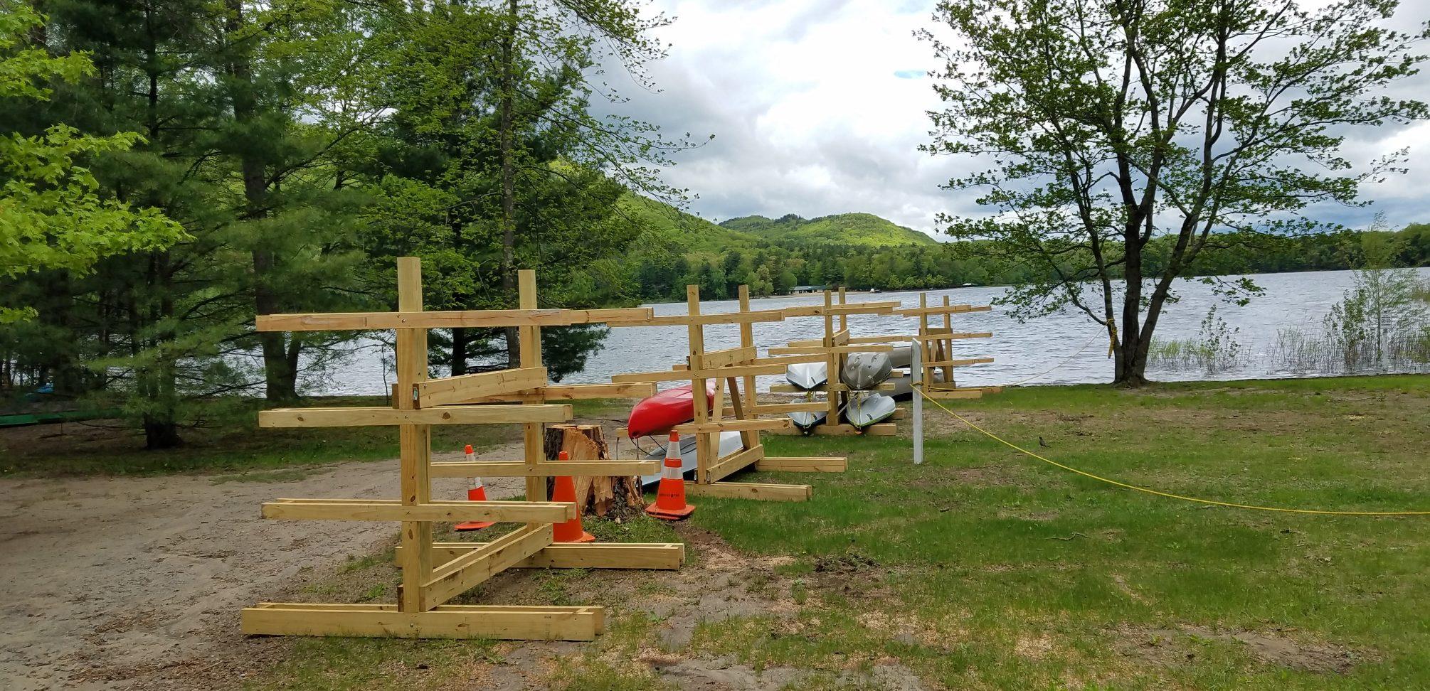 Kayak Racks Ready to Go
