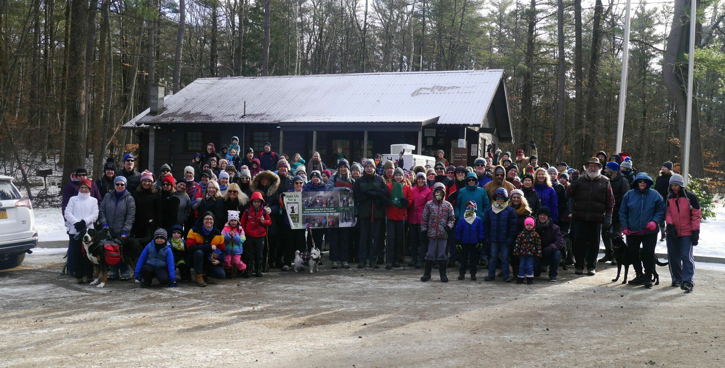 Record Turnout for First Day Hike